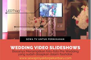 Sewa TV LED Pekanbaru untuk Wedding