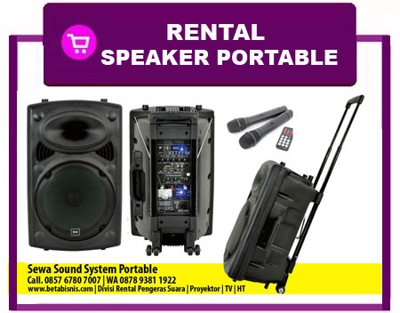 Harga Sewa Speaker Aktif Portable Pekanbaru