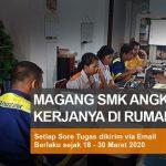 Para Peserta Magang SMK Pekanbaru Online dari Rumah Saja Prakteknya